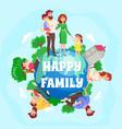 happy family cartoon composition vector image