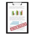 Press release icon vector image