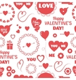 Seamless background happy Valentines Day vector image