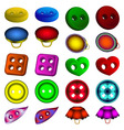 set of different shape and color of buttons vector image