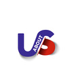 VS about company linked letter logo vector image