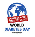 world diabetes day vector image