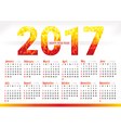 2017 year simple office calendar vector