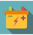 Machine battery icon flat style vector image