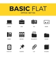 Basic set of Office icons vector image