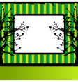tree silhouette frame vector image vector image