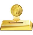 gold button vector image
