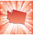 Red Washington vector image