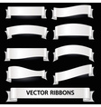 white various curved empty ribbon banners eps10 vector image