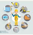 Building consultants contractors vector image vector image