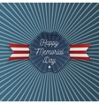 Happy Memorial Day Emblem with Text vector image