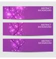 A set of banners Abstract with wavy lines on a vector image