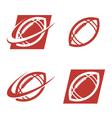 American Football Logo Icons vector image
