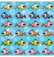 Background with fishes vector image