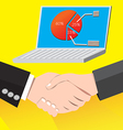 Handshake successful business deal vector image