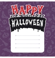 Happy Halloween Card with Text Box vector image