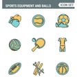 Icons line set premium quality of sports equipment vector image