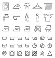 laundry and washing icon vector image