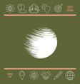 logo earth symbol vector image
