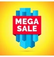 Mega sale banner Yellow background vector image