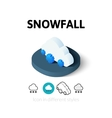 Snowfall icon in different style vector image