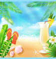Tropical Sea Background vector image