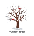 Winter tree with birds vector image