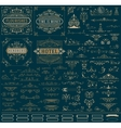 Kit of Vintage resources for Invitations Banners vector image
