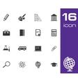 black education icon set on white background vector image