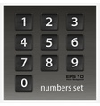 Set of numbers on black vector image