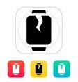 Broken smart watches icon vector image