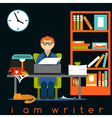 freelancer writer guy flat design concept vector image