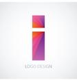 colorful logo letter i vector image