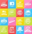 Set Summer Holidays Labels Design Elements vector image vector image