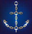 Anchor gold vector image