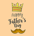 happy father day over brown background vector image