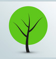 modern flat green tree icon vector image