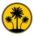 Palm button vector image