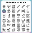 primary school icon set vector image