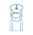 sailor captain avatar character vector image