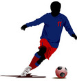 soccer players colored for designers vector image
