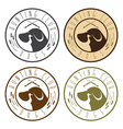 duck hunting retriever negative space labels set vector image