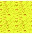 Fun christmas seamless lemon yellow pattern vector image