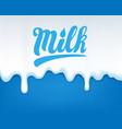 drip of milk vector image vector image