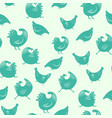 a pattern with cocks and chickens vector image