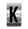 Alphabet silver flipboard letters k vector image vector image