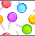 Color lollipops pattern vector image