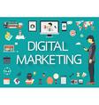 Digital marketing icon set vector image vector image