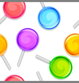 Color lollipops pattern vector image