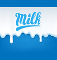 drip of milk vector image